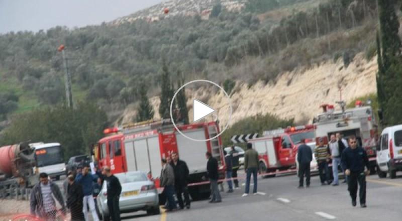 الرينة: وفاة شخص وإصابة آخر بحادث بين خلاط باطون وسيارة خصوصية